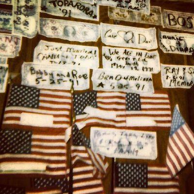 Old Polaroid Shots - God Bless the USA -Bar $$$s Ig_ruralamerica Igsignage Trailblazers_macro Trailblazers_rurex rsa_rural rsa_signs signporn signstalkers Americantreasures