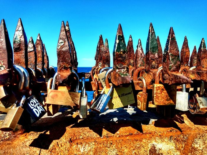 Metal Padlock Art Artstreet France Sunlight Beach Sky