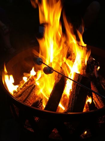 Fire Firepit Marshmallows Nightphotography Night Flames Toasted Marshmallow