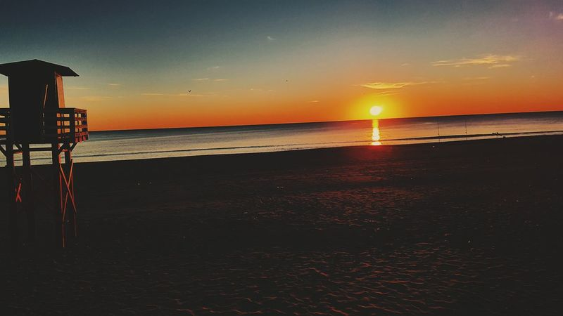 Sunset Sea Horizon Over Water Scenics Water Beauty In Nature Beach Tranquility Playas Outdoors Nature Sky No People Galaxy Matalascañas