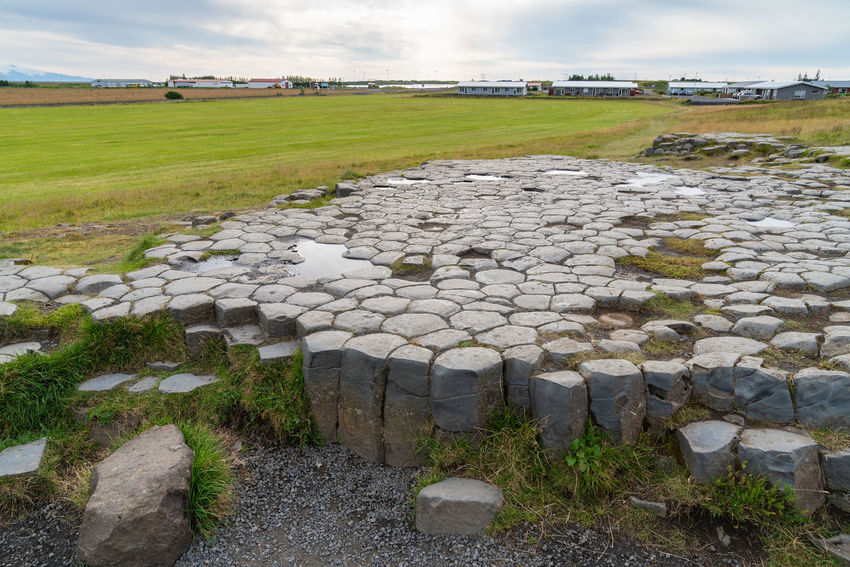 Kirkjugólf Iceland Ancient Civilization Archaeology Architecture Beautifuliceland Cloud - Sky Day Environment Field Grass History Land Landscape Nature No People Outdoors Plant Rock Sky Solid Stone - Object Stone Wall The Past Tranquil Scene Tranquility