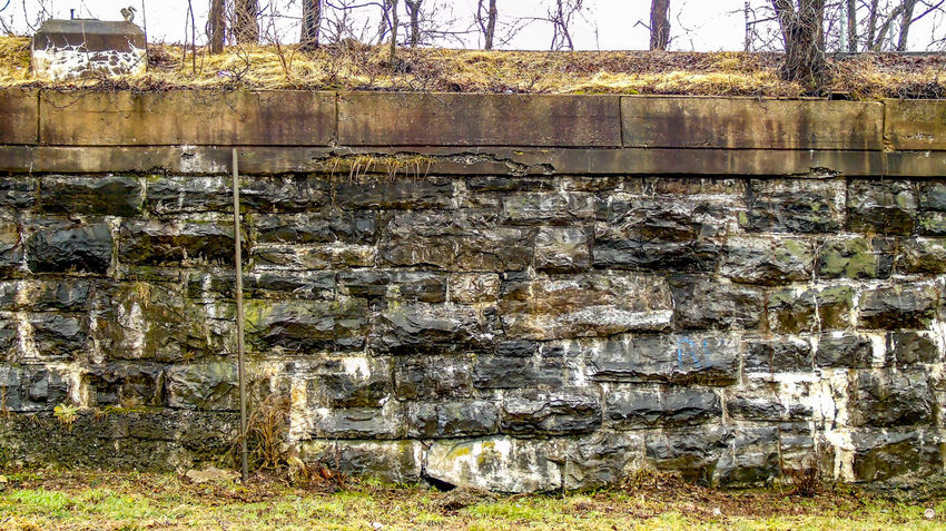 OLD STONE BRIDGE WALL Abundance Bad Condition Day Deterioration Full Frame Moss No People Old Outdoors Rock Stack Stone Stone - Object Stone Wall Textured  Wall