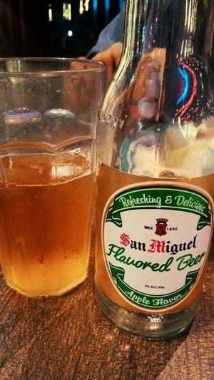Beer Flavoredbeer APPLEFLAVOR SanMiguelBeer  refreshing & delicious 😜