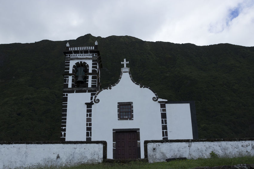 Azores Church Cristian Church EyeEmNewHere Portugal São Jorge Architecture Building Exterior Built Structure Cloud - Sky Day Grass Mountain Nature No People Outdoors Place Of Worship Religion Sky Spirituality Tree