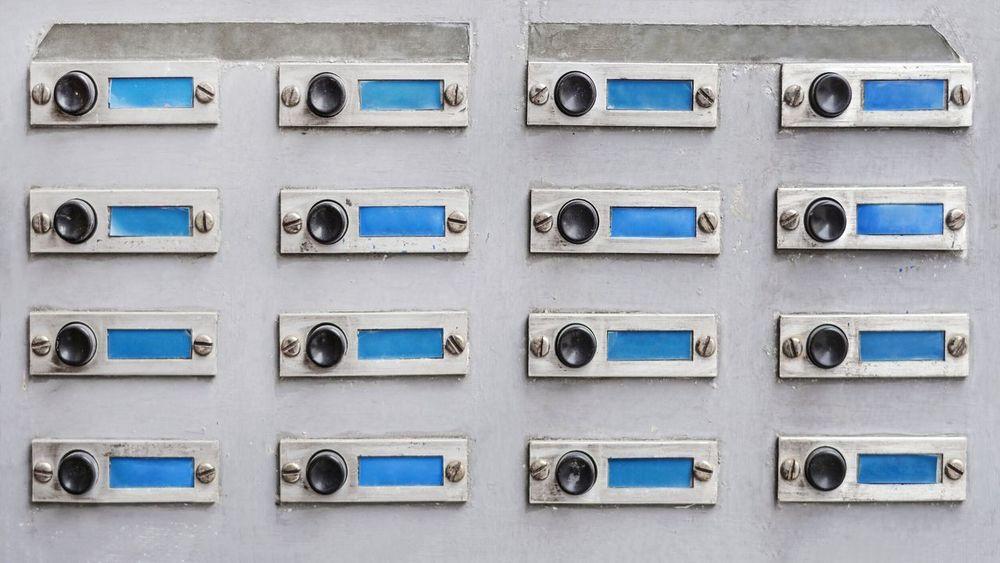 Retro Buzzers Retro Old Style Vintage Blank Label Buzzer Ring Bell Address Building Apartment Interphone Access Intercom Panel Doorbell Doorbells Business Control Panel Variation Merchandise Retail
