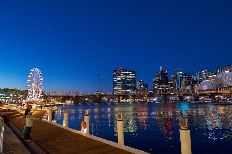 Architecture Built Structure Building Exterior City Water Sky Illuminated Night Cityscape