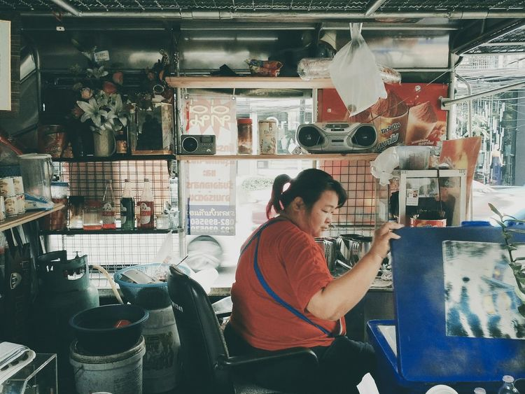 The Human Condition Portrait Of A Woman Portraiture Thonglor BKK Bangkok Street Vendor