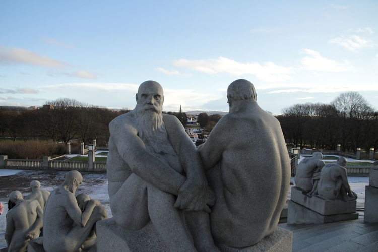 Gustav Vigeland Oslo Sculpture Park This Is Masculinity Outdoors Sculpture Statue Stone Man Stone People