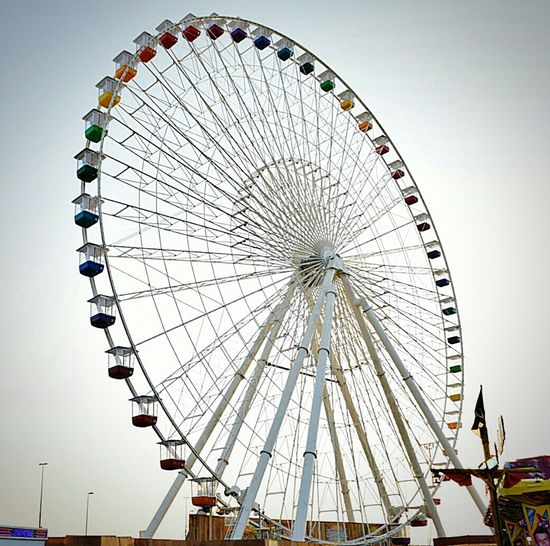 At global village in Dubai Ferris Wheel Rides Dubai Global Village Dubai Enjoying Life Spinning Wheel Going On Rides Fun Rides