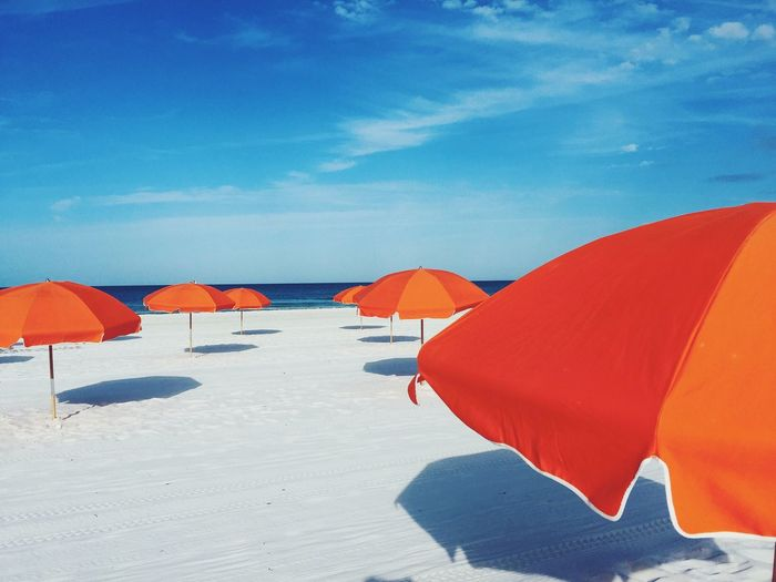 LIFE IS A BEACH Beach Sand Sky Sea Beach Umbrella Day Vacations Summer Outdoors Travelphotography Photooftheday ClayHaynerPhoto Traveling Art Photo Of The Day Flordia Clay Hayner Photo Travel Beauty In Nature Travel Destinations Tourism Travel Photography Tranquility Orange Beach Life Live For The Story