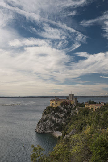 Architecture Beach Beauty In Nature Castle Cloud - Sky Day Duino Castle Famous Place Friaul Horizon Over Water Italy Nature No People Outdoors Palace Rocks And Water Scenic Landscapes Scenic Lookout Scenic View Scenics Sea Sky Travel Destinations
