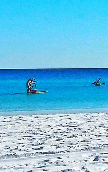 Water Activities Watersports Outdoor Photography Outdoor Activities Paddle Boarding Beach Photography Beaches Of Eyeem Sugar White Sand Men Paddling In Ocean Blue Green Water Aqua Sports The Essence Of Summer Destin, FL Destin,Florida, USA