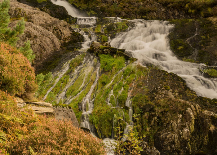 LLyn Ogwen Nature Rocky Blurred Motion Downhill Mountain Mountainous No People Tranquil Scene Water Waterfall