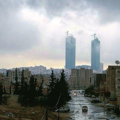 Cityscape Skyscraper Urban Skyline Architecture Sky Cloud - Sky Amman Jordan