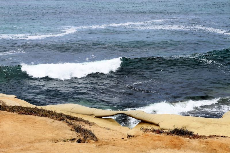 Beach Photography Been There. Daytime La Jolla Beach La Jolla, California Nature San Diego Sunny Beach Beauty In Nature Been There, Done That Day La Jolla Nature No People Ocean Outdoors Sand Scenics Sea Shore Water Wave Waves Waves And Rocks