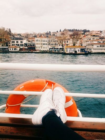 Taking Photos Hello World Enjoying Life Sea And Sky View My Shoes Trip By Ship Tour Of The Istanbul Ship