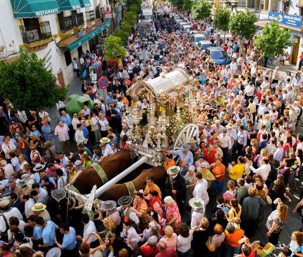 Triana sale para hacer el Camino del Rocío. Andalucía. España. Fotocallejera Andalusia Andalucía Sevilla Streetphotography Seville Triana Elrocio