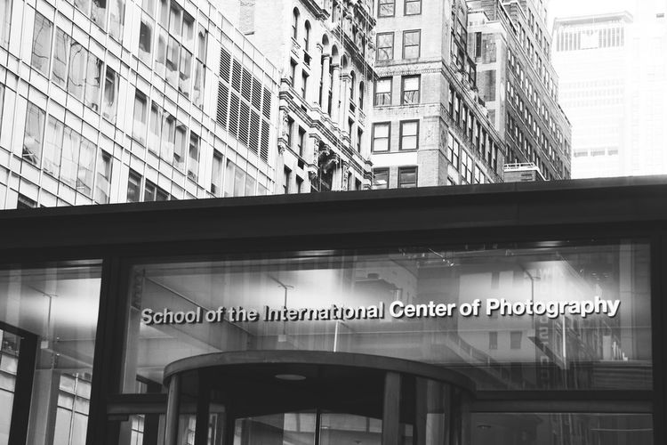 School of the international Center of photography NY NYC NYC Photography New York New York City School Of The International Center Of Photography Architecture Blackandwhite Bllackandwhite Building Exterior Buildings Built Structure City Communication Day Illuminated Low Angle View Monochrome No People Outdoors School Text