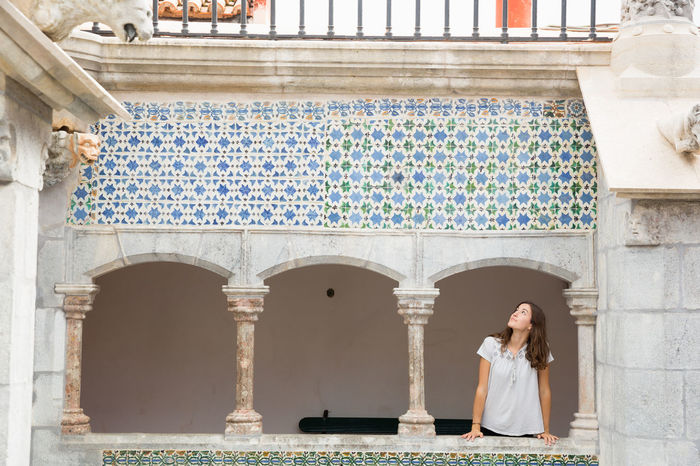 Exploring Moorish Architecture Palácio Da Pena Portugal Portugal Is Beautiful Sintra Travel Arch Architecture Built Structure History Lifestyles One Person Real People