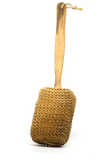 old Bath brush for use in bath room Bath Care Backgrounds Brush Handled Healthy Eating Long Loofah Scrub Scrubber Spa White