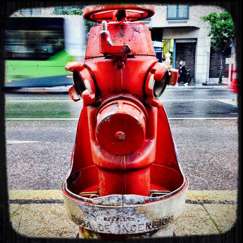 Vigo Vigo, Galicia (España) #vigo #galicia #pontevedra #spain #españa Fire Hydrant I See Faces Red Streetphotography Still Movement