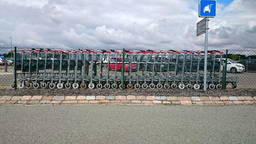 All in LINE and in Order waiting for passengers at Århus Airport Aarhus Lufthavn Aarhus Lufthavn Airport Parking Lot Århus Sign Beautifully Organized