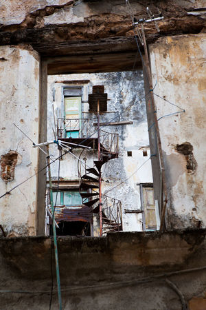Urban Dwelling Architecture Building Exterior Building Structures Cuba Damaged Day Havana No People Old Havana, Cuba Outside Textures And Surfaces Urban Living Window