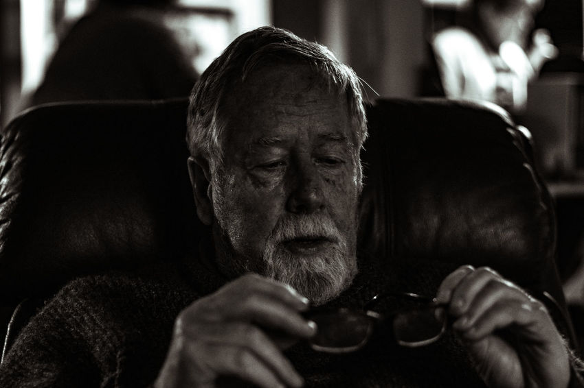 Dad Dad People Of EyeEm A77ll Black And White Close-up Contemplation Emotion Father Headshot Indoors  Lifestyles Men Monochrome Parent People Portrait Shepparton Sitting