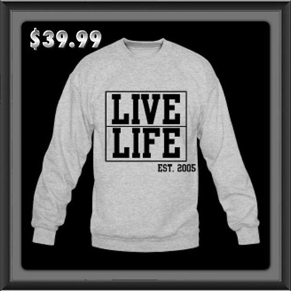 Livelife EstaBlished 2005 Box crewneck gray great price premium prestige pristine tshirt jimbosports