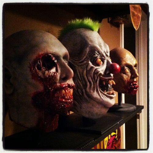 Some of my props from the wonderfully @evillejs Evillejs Zombie Zombieprop Mancave Halloween Halloweenallyear props