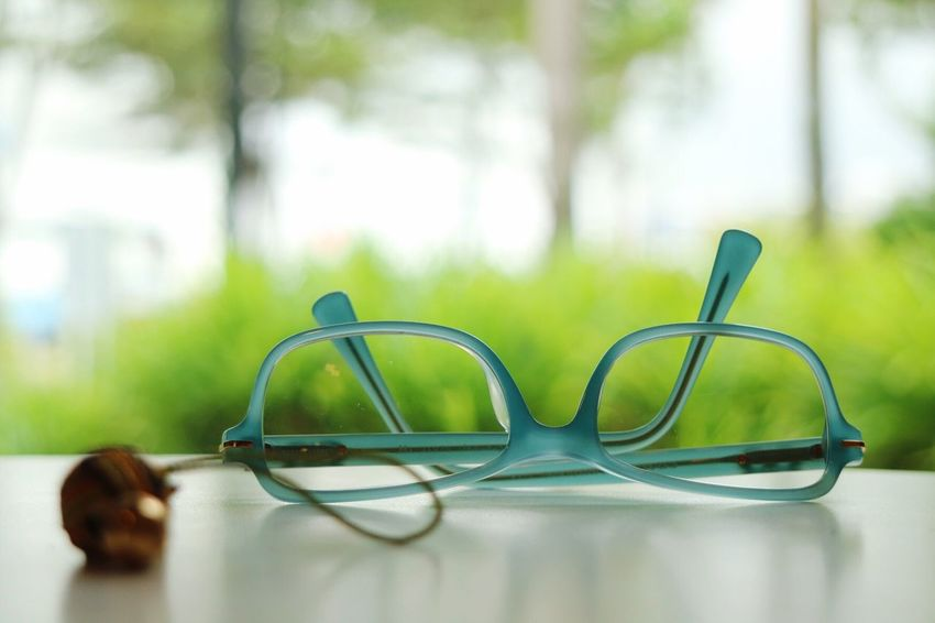 relaxing weekend Eyeglasses  Green Color Close-up Indoors  No People Healthcare And Medicine Day