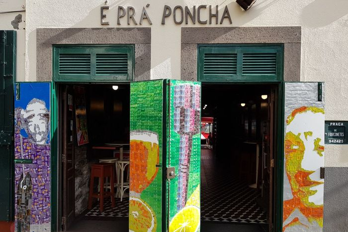 Architecture_collection Architectural Detail Architecture Photography Poncha Art Vacation Time Madeira Island Food And Drink Drink Câmara De Lobos Madeira Bildfolge Entrance Architecture Door Built Structure Building Exterior Doorway Multi Colored Day Outdoors No People Close-up