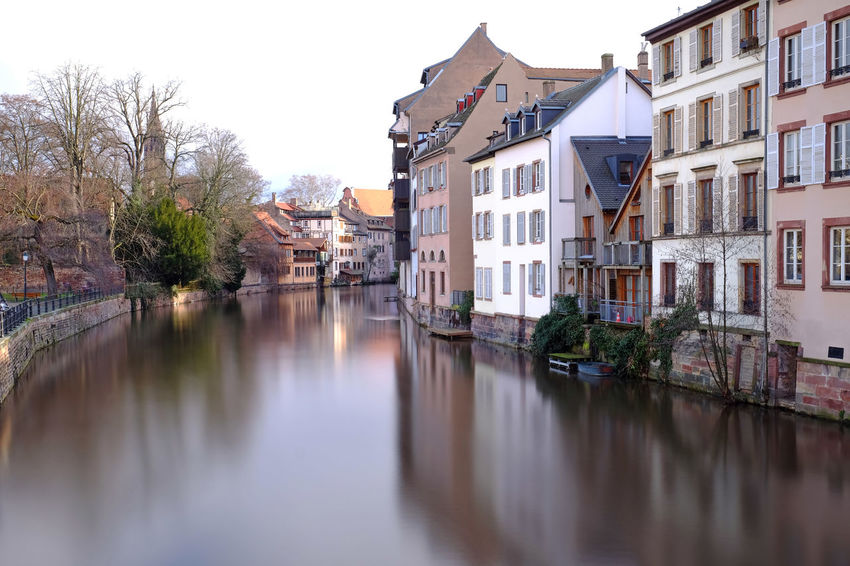 Alsace Europe Trip European  France Reflection Strasbourg Architecture Building Exterior Built Structure Canal City Day Europe Landscape Nature No People Outdoors Reflection Reflection_collection Reflections Residential Building Travel Destinations Tree Water Waterfront