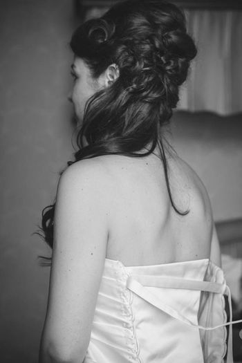 One Person Rear View One Woman Only Close-up Female Beauty Bridal Fashion Wedding Hair Scottish Wedding Long Hair Scottish Highlands Weddings Around The World Scotland Women Of EyeEm Wedding Dress Wedding Hair Light Indoors  Hairstyle