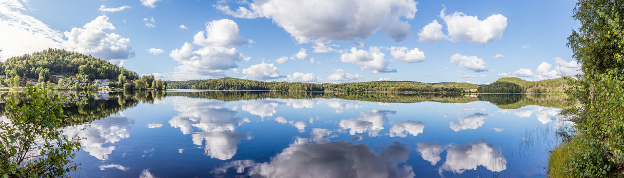 Beauty In Nature Calm Clouds And Sky Countryside Day Lake Mirror Lake Nature No People Reflection Summer Sweden Water Reflections