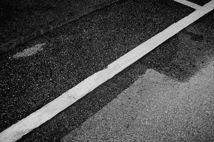 Yellow Road Marking Asphalt Road Transportation Street Textured  No People High Angle View Full Frame Backgrounds Day Outdoors Close-up LINE