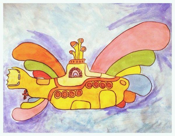 Yellow Submarinee Acuarelas