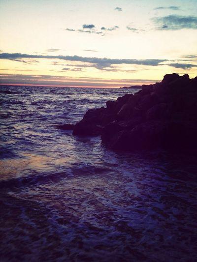 Marseille Sunset Clouds Sea