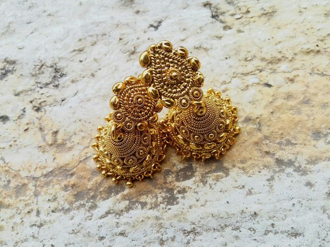 Your Design Story Jewelryphotography Ethnicity Gold Colored Traditional Oldisgold Earringslove First Eyeem Photo