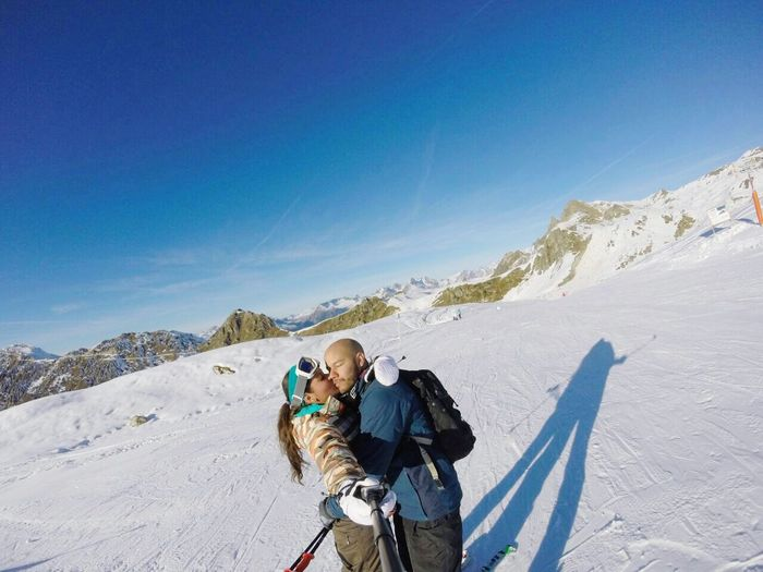 Two Is Better Than One This Is my loved husband and I having a White Christmas in the French Alps 2015  Let It Snow Snow France The Alps Love Is In The Air Last Year Pure Love Us Eyeemphoto I LOVE PHOTOGRAPHY