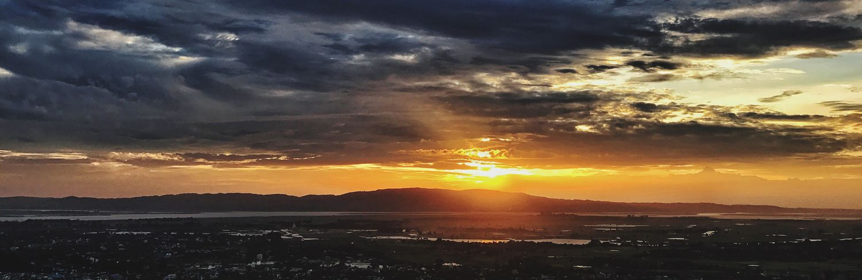 Sunset Sun Sky Nature Outdoors Landscape Mountain
