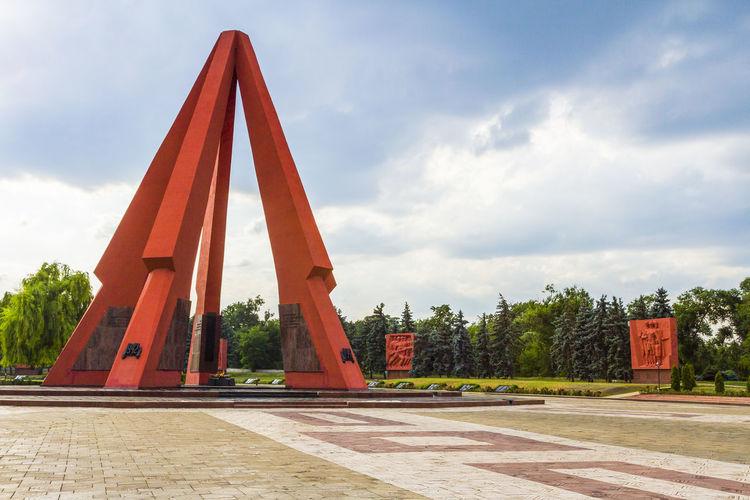 Architecture Built Structure Chişinău Cloud - Sky Graveyard Moldova Monument Red War Cementary