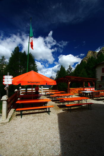Dolomites, Italy Italy Flag Mountain View Architecture Contrin Day Flag Mountain Mountain Range Mountain Rest Nature No People Outdoors Red Sky