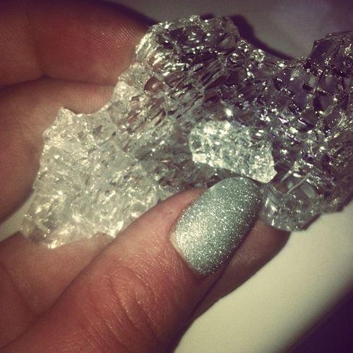 Má Crystal Naw Im clumsy smashed a glass sparkly diamonds he he