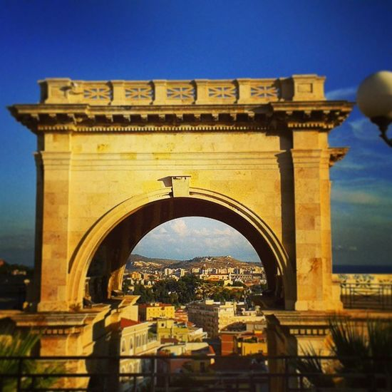 Cagliari Cartolina Bastione Pomeriggio autunno