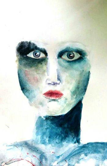 Hobby ArtWork Art, Drawing, Creativity Painting Aquarell 5minutes Justforfun♡ First Eyeem Photo