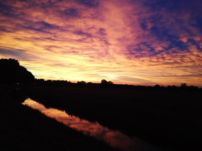 Sky Holland Sky Beautiful Colors Evening