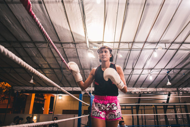 Confidence. International Women's Day 2019 One Person Front View Real People Lifestyles Young Adult Exercising Women Sport Healthy Lifestyle Sports Clothing Sportswoman Fitness Muay Thai Kickboxing Tradition Young Women The Portraitist - 2019 EyeEm Awards