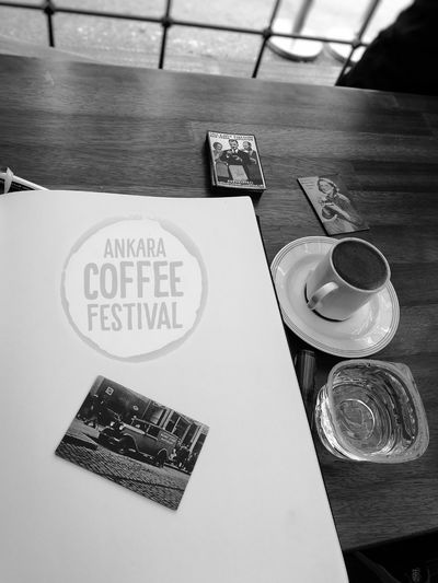 .Indoors  No People Close-up Day Drink Water Coffee Turkishcoffee CoffeeFest HuaweiP9 Photography The Week On EyeEm Turkey EyeEm Selects Eyemphotography Lifestyles Coffeetime Table Coffee - Drink Freshness Journals Black&white MonochromePhotography Monochrome Lover