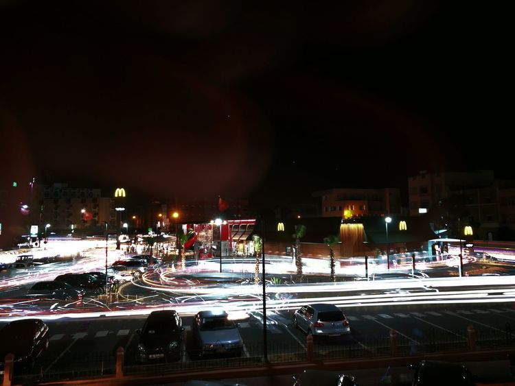 Flashlight Illuminated Car City Laayoune Laayounemorocco Moroccan Sahara Adventures In The City HUAWEI Photo Award: After Dark #urbanana: The Urban Playground